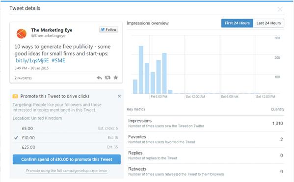 Twitter Promote Tweet 2