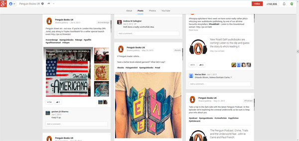 Penguin Book Google+ Page
