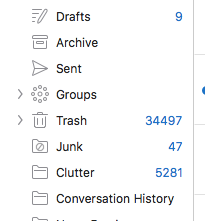 Outlook's Clutter