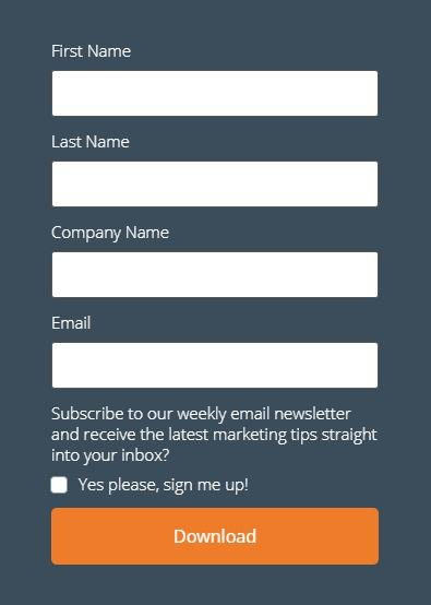 Newsletter Form Opt-In