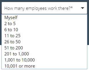 Ask how many employees work there