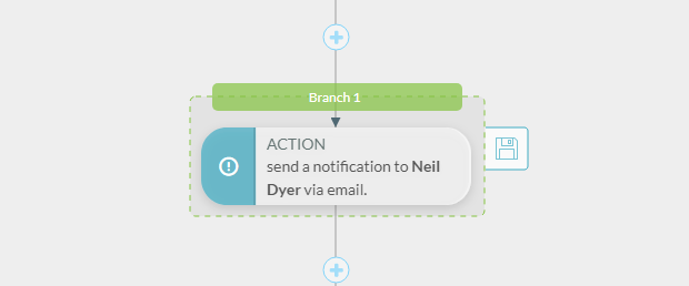 Visual workflow lead notification