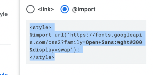 import copy style tags in Google Fonts for SharpSpring.png