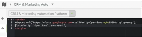 Google Fonts css in SharpSpring.png